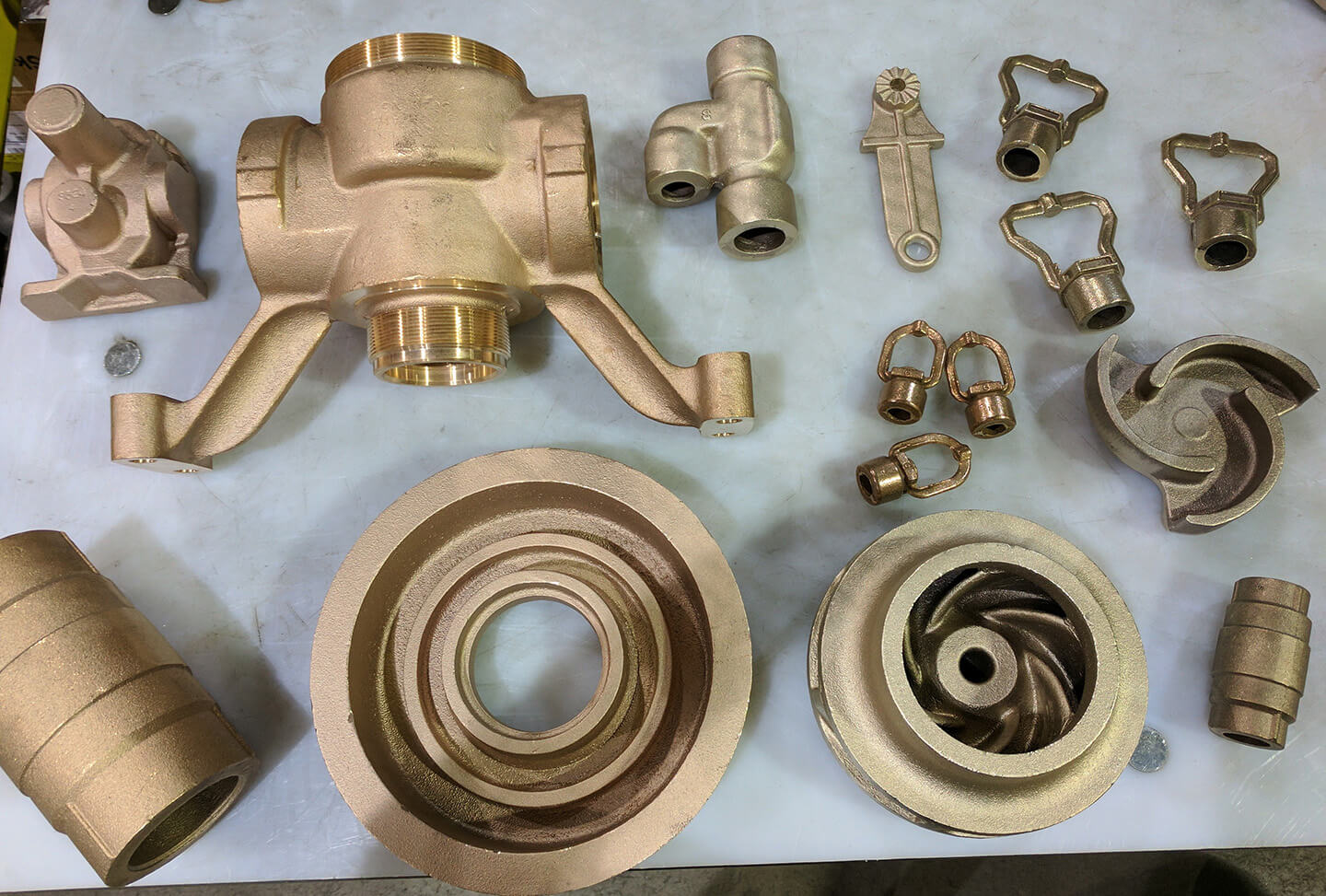 Various alloy casting examples